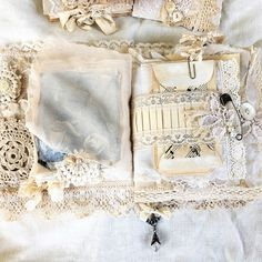 My newest #handmadejournal ... for sale link in bio..... #vintagejournal #fabricbook #keepsakejournal #heirloom #myartwork #shabbysoul