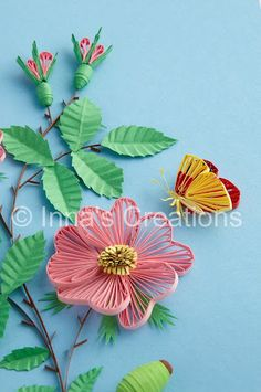 *QUILLING....love the flower and the buds!