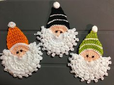 Gnome Ornaments. Diagram and visual tut. ☀CQ #crochet