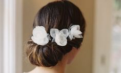 MIGNON SHEER SILK FLORAL HAIR PINS