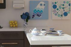#render #kitchen #interior #design #cup  #blue #detail #interni #cucina #arredamento #casa #home #designs #interiordesign #blu