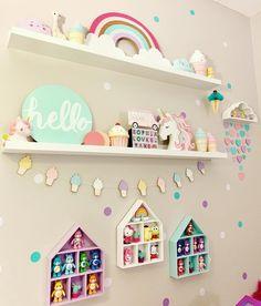 Unicorn 🦄 rainbow 🌈 ice cream cone 🍦 room is part of Rainbow bedroom - Unicorn Room Decor, Unicorn Bedroom, Baby Room Decor, Bedroom Decor, Bedroom Ideas, Unicorn Rooms, Big Girl Bedrooms, Little Girl Rooms, Rainbow Bedroom