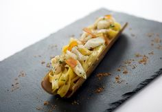 Homemade Tagliatelle with Bamboo Clams and Bottarga - Italian dining at Buona Terra