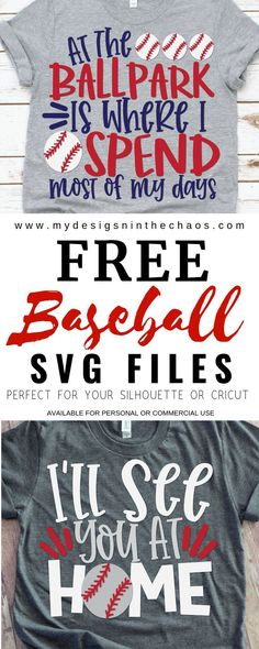 These free baseball SVG cutting files work great on a Silhouette or Cricut cutting machine. Perfect for baseball mama's and their little ones to have some swag during the season and look cute at the ballpark. #baseballmama #silhouette #cricut #freesvg #baseballsvg