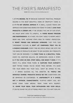 Vertical Religion - Fixers Manifesto