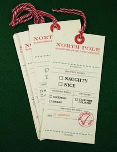 Naughty or Nice Christmas Tags - 5 Pack Giant Gift Tags