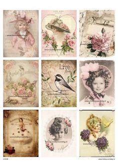 vintage sheet 36 sweet Decoupage Vintage, Shabby Vintage, Vintage Tags, Vintage Labels, Vintage Ephemera, Vintage Paper, Vintage Prints, Planner Bullet Journal, Junk Journal