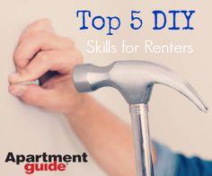 Top 5 #DIY Skills for #Renters http://www.apartmentguide.com/blog/top-5-diy-skills-for-renters/#more-59203 #repairs #fix #sink #toilet