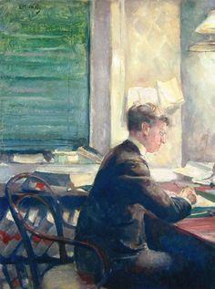 Edvard Munch - 1887, Halvard Stub Holmboe. oil on canvas, 75 x 59 cm. bergen kunstmuseum, norway http://www.the-athenaeum.org/art/detail.php?id=89212