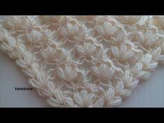 Örümcekli Çiçek Şal Yapılışı - YouTube