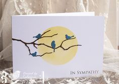 MAR VSN MINI Sympathy Birds by Cook22 - Cards and Paper Crafts at Splitcoaststampers    resting birds on grove branch, wonderful