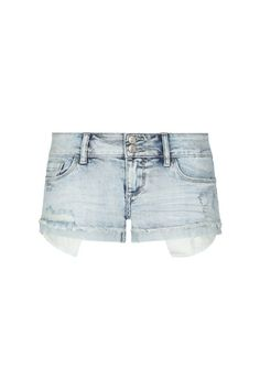 Light Blue Acid Wash Denim Shorts