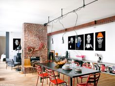 """New York style has arrived at Porte Saint-Denis, Paris in the form of this edgy apartment loft, filled to the brim with interesting collections and """"shabby"""" features that give..."""