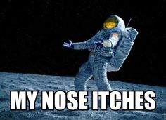 My nose itches!