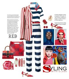 """""""Dolce & Gabbana stripes"""" by mbarbosa ❤ liked on Polyvore featuring Dolce&Gabbana, Gucci, Lime Crime, Miró, Roberto Cavalli, Anne Klein, Simone Rocha, Ivy and INC International Concepts"""