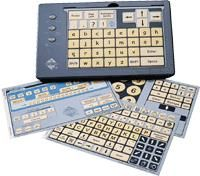 The IntelliKeys Programmable Keyboard is a modifiable keyboard that helps individuals that may not have the cognitive capability or physical dexterity to operate a traditional QWERTY keyboard. The keyboard comes with several overlays that can be programmed to operate in various ways.