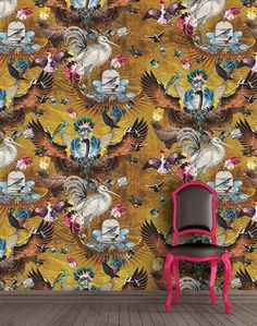 Whimsically patterned wallpaper collection by Santorus London is available at The Pattern Collective.