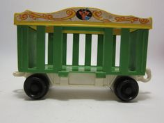Fisher price circus train toy vintage 1970 1980 toy green giraffe car on Etsy, $5.00
