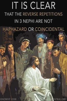 Why are teachings and concepts repeated throughout 3 Nephi? It is clear that this repetition is not haphazard or coincidental. In fact, it systematically repeats material, but in reverse order. This is related to an ancient literary practice called Seidel's Law, a practice related to chiasmus. https://knowhy.bookofmormoncentral.org/content/why-is-the-sermon-at-the-temple-echoed-throughout-the-rest-of-3-nephi #Chiasmus #Christ #BookofMormon