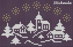 Stickeules Freebies: turn this into quilt Xmas Cross Stitch, Cross Stitch Books, Cross Stitching, Cross Stitch Embroidery, Cross Stitch Designs, Cross Stitch Patterns, Fair Isle Chart, Cross Stitch Numbers, Theme Noel