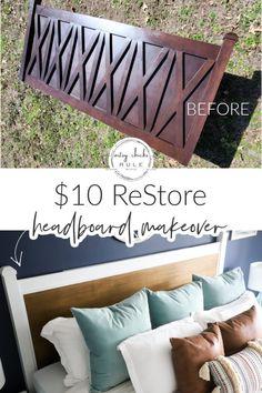 Creative Decor, Creative Crafts, Creative Ideas, Headboard Makeover, Painted Headboard, Thin Plywood, Master Bedroom Redo, Ikea Pax, Wall Treatments