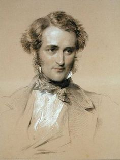george richmond - Portrait of William Benson