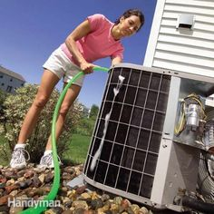 Easily Clean Your Own Air Conditioning Unit Cleaning your condenser regularly can actually help you to save money on maintenance and repairs over the years. Make sure that you shut off the unit before you begin and take a shop vac to the unit to remove dust and debris that may have settled in during the winter months. Remember to also replace your filter inside so that your unit blows out nice clean air during the hot summer months.