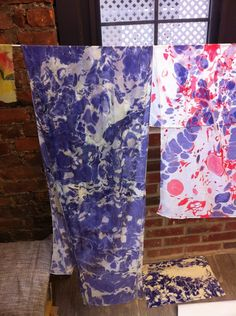 marbling dye on fabric