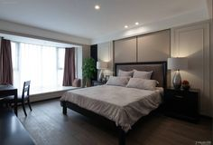 Modern bedroom interior design effect picture 2015