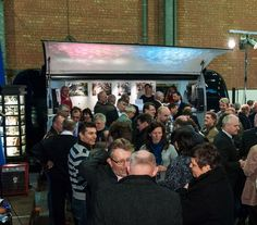 Ambiance Mobile in een hanger van de haven van Antwerpen #ambiancemobile #event #mobilebar