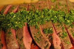 Flank Steak with Lemon-Herb Pesto