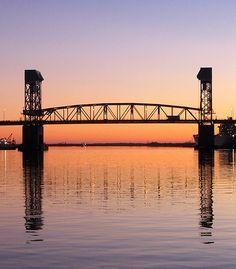 Cape Fear Memorial Bridge in Wilmington North Carolina