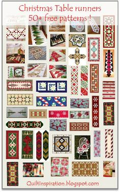 And, in case you are drawing a blank - a few ideas for your Christmas quilting gifts - Table Runners