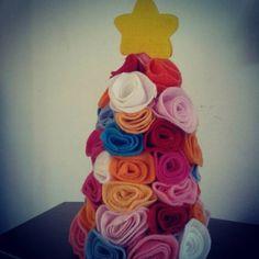 Árvore de Natal com Florezinhas