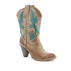 I neeeeeeeeeeeeeeddddd these :( Shiek/DSW Vegan Cowboy Boots, High Heel Cowboy Boots, Cowboy Boots Women, Cowgirl Boots, Western Boots, Heeled Boots, Rio Grande, Teal, Blue