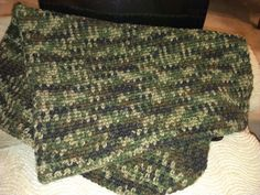 adorable perfect crib size crochet camo baby afghan blanket