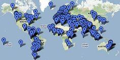 Países que participan en el Día Mundial de las Aves Migratorias.