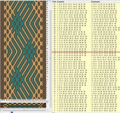 38 tarjetas, 3 colores, repite cada 28 movimientos // sed_287a diseñado en GTT༺❁
