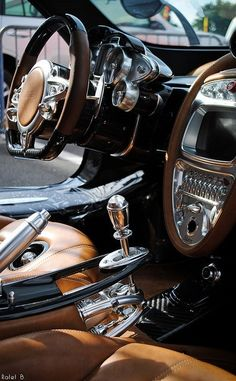 #Pagani #Huayra interior. 4th place on the Top 10 Most Expensive Cars. More pictures at http://mostexpensivecartoday.com
