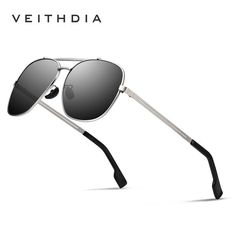#FASHION #NEW VEITHDIA Brand Stainless Steel Sunglasses Polarized UV400 Men's Square Vintage Sun Glasses Male Eyewear Accessories For Men…