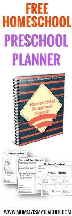 Wow, I love this free homeschool preschool planner! It's great to help me plan my preschool activities at home for my 3 year old.