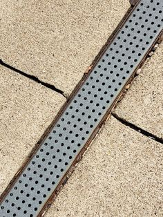 ULMA polymer pre-sloped channel with galvanized steel perforated grate. Shop online or call Trench Drain Systems, Concrete Driveways, Sidewalks, Galvanized Steel, Check, Design, Courtyards, Road Pavement, Walkways