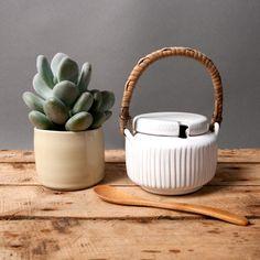 danish sugar bowl with lid lovemose grooved studio by northvintage