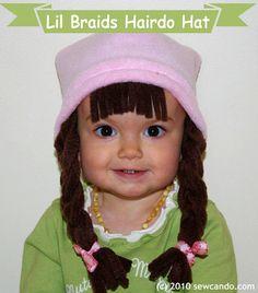 Lil' Braids Baby Hairdo Hat  You Choose Colors by thegreenhedgehog, $16.95