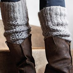 leg warmers & boots.  Cut the sleeves off of your old sweaters! GENIUS!!