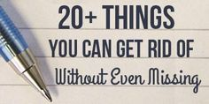 20+ Things You Can Get Rid of Without Even Missing | 31 Days Exploring Minimalism | minimalist living, simple living, getting rid of stuff