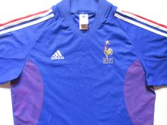 France 2002 2003 2004 home football shirt by Adidas maillot FFF WorldCup  vintage soccer fb5d07e51