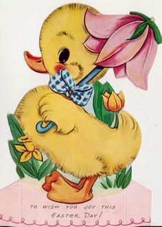 Vintage 1930s Art Deco Mechanical Chick Easter by poshtottydesignz, $4.00