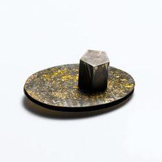 Maria Rosa Franzin, brooch, silver, gold, magnet.