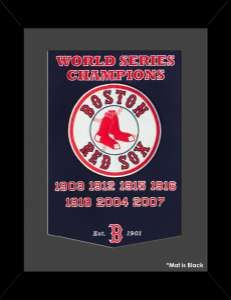 e3bcccb82d0 Framed Boston Red Sox World Series Champions Dynasty banner. Red Sox  Championships